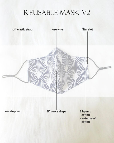 SEA SHELL Reusable Mask V2