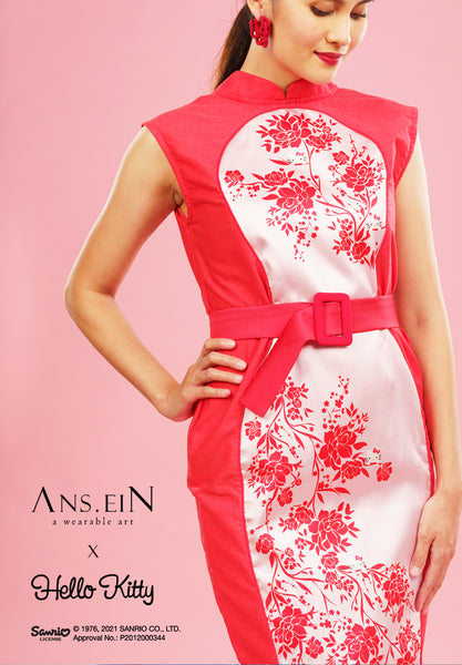 HELLO KITTY PEONY Illusion Cheongsam