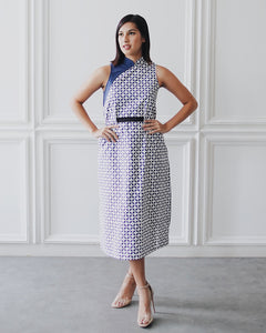 KAWUNG X NAVY Cheongsam Dress BATIK