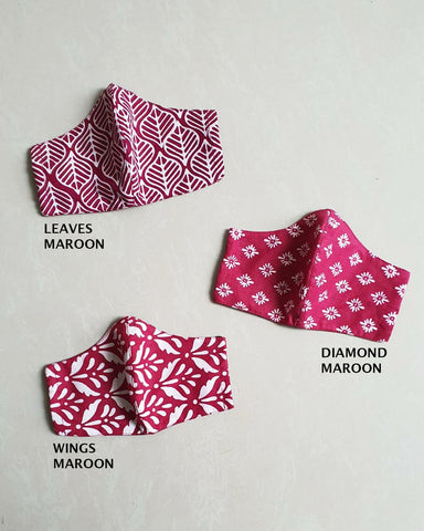 *) MAROON Reusable Mask