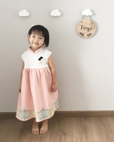 [Ans.ein X Marronnier] Hathaway MiniMe Dress in Pink