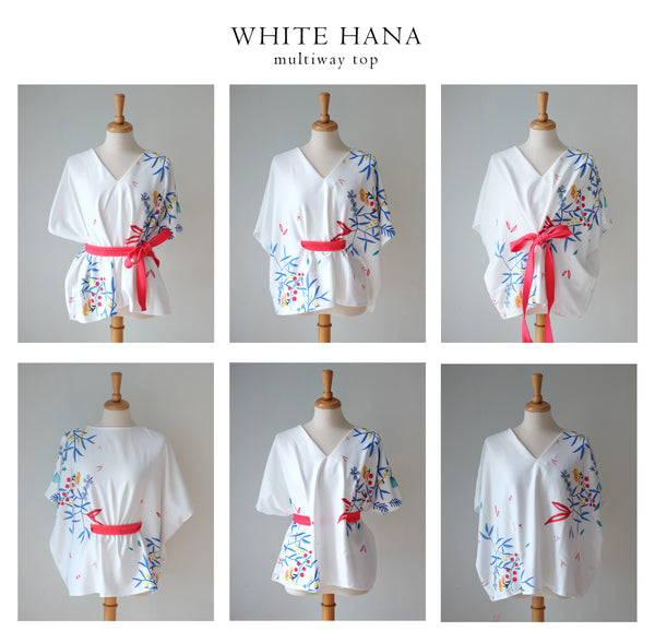 WHITE HANA Multiway Top