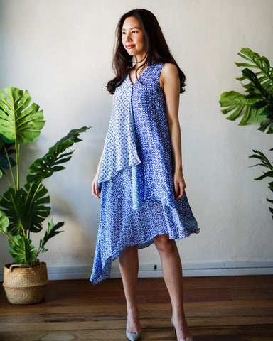 PERANAKAN BLU Layer Dress