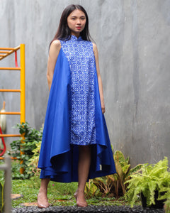 Peranakan Blu Flying Dress #sl