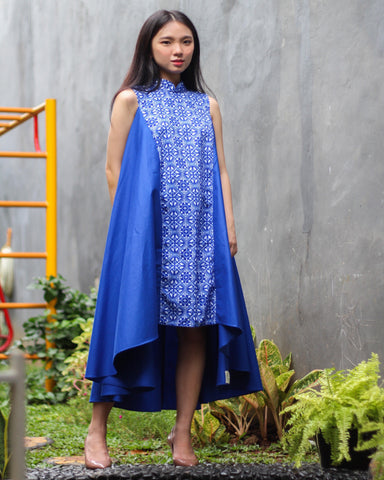 Peranakan Blu Flying Dress