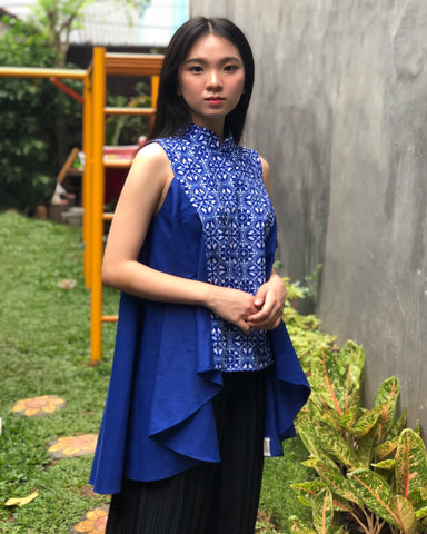 Peranakan Blu Flying Top