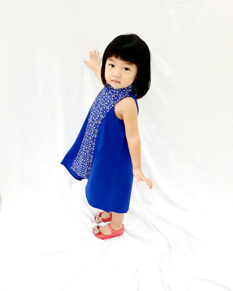 Peranakan Blu MiniMe Flying Dress