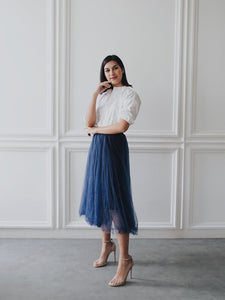 Basic Tulle Skirt - Navy