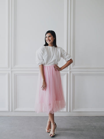 Basic Tulle Skirt - Pink