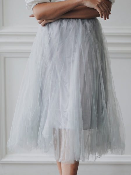 Basic Tulle Skirt - Grey