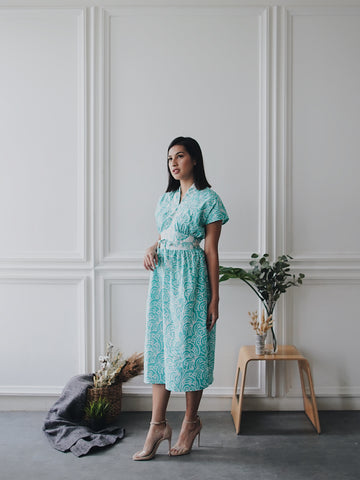 PORCELAIN MINT Flare Dress