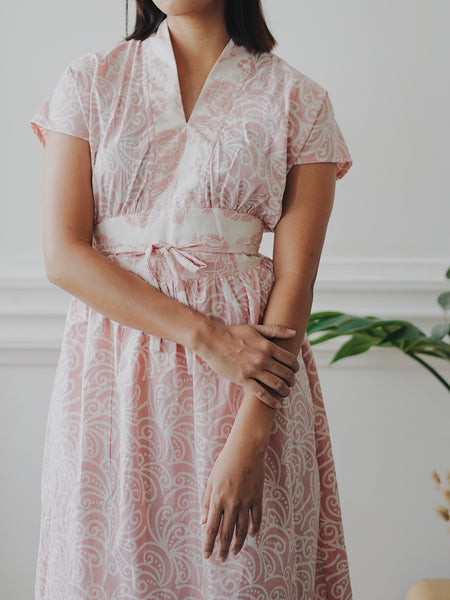 PORCELAIN BLUSH Flare Dress