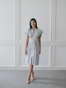 SEIGAIHA せいがいは Batik Nyonya Dress Grey