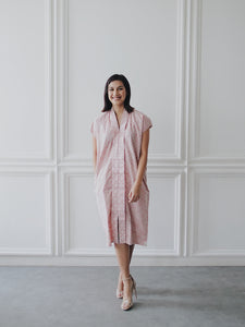 SEIGAIHA せいがいは Batik Nyonya Dress Blush
