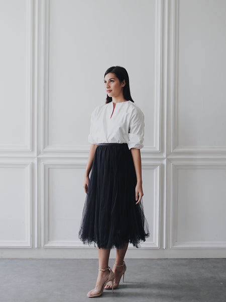 Basic Tulle Skirt - Black