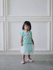 SEIGAIHA せいがいは Batik MiniMe Top Mint #cny