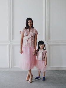 SEIGAIHA せいがいは Batik MiniMe Top Blush #cny