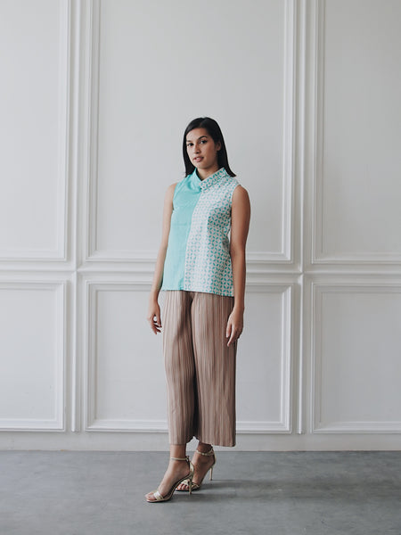 KAWUNG X MINT Asymmetrical Top BATIK
