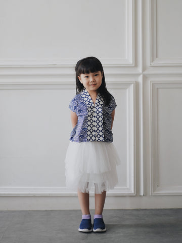 SEIGAIHA せいがいは Batik MiniMe Top Navy #cny