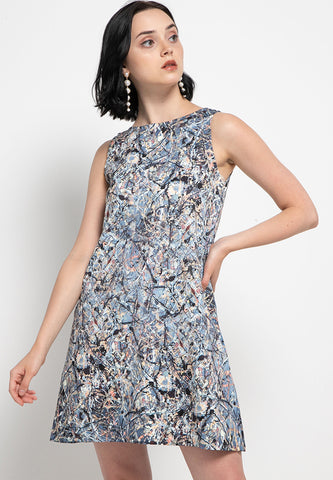 POLLOCK sleeveless dress