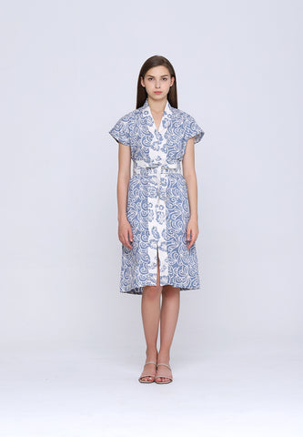 PORCELAIN Grey Batik Nyonya Dress
