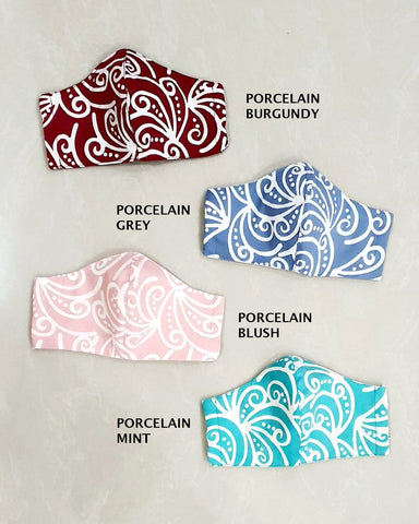BATIK PORCELAIN Reusable Mask