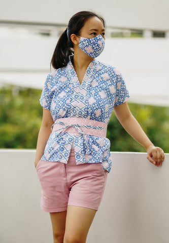 SEASONS Batik Nyonya Cap Sleeve Top