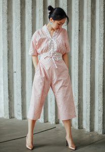 SEIGAIHA せいがいは Batik Jumpsuit BLUSH