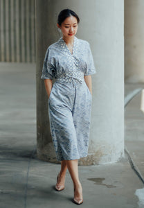 SEIGAIHA せいがいは Batik Jumpsuit GREY