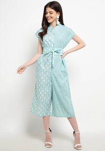 SEA SHELL MINT Batik Asymmetrical Jumpsuit