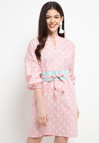 SEA SHELL BLUSH Batik Tunic Dress
