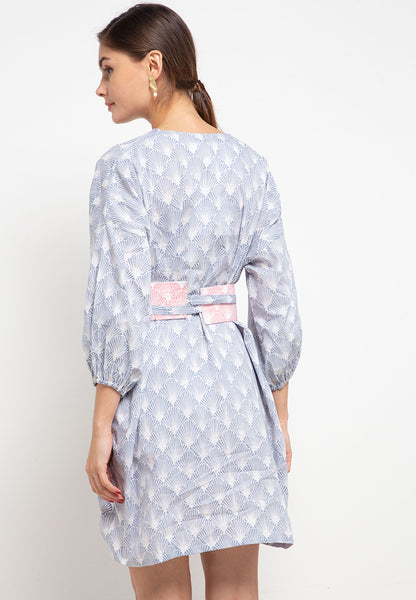 SEA SHELL GREY Batik Tunic Dress