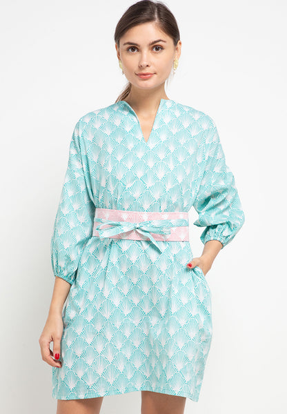SEA SHELL MINT Batik Tunic Dress