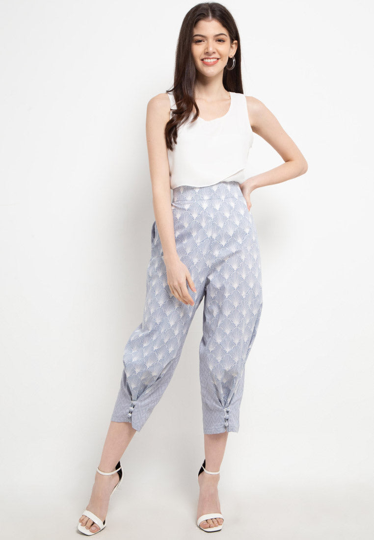 SEA SHELL GREY 3-Way Pants BATIK