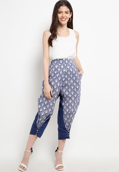 SEA SHELL NAVY 3-Way Pants BATIK