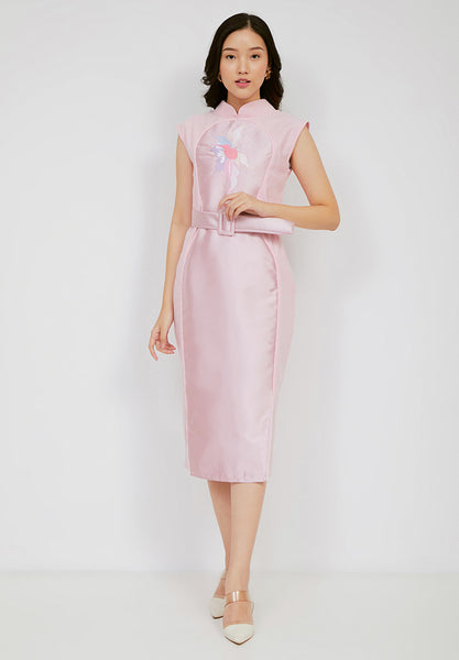 SONGBIRDS Illusion Cheongsam Blush