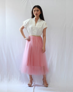 Basic Tulle Skirt - Blush