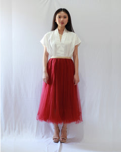 Basic Tulle Skirt - Burgundy