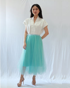 Basic Tulle Skirt - Light Blue