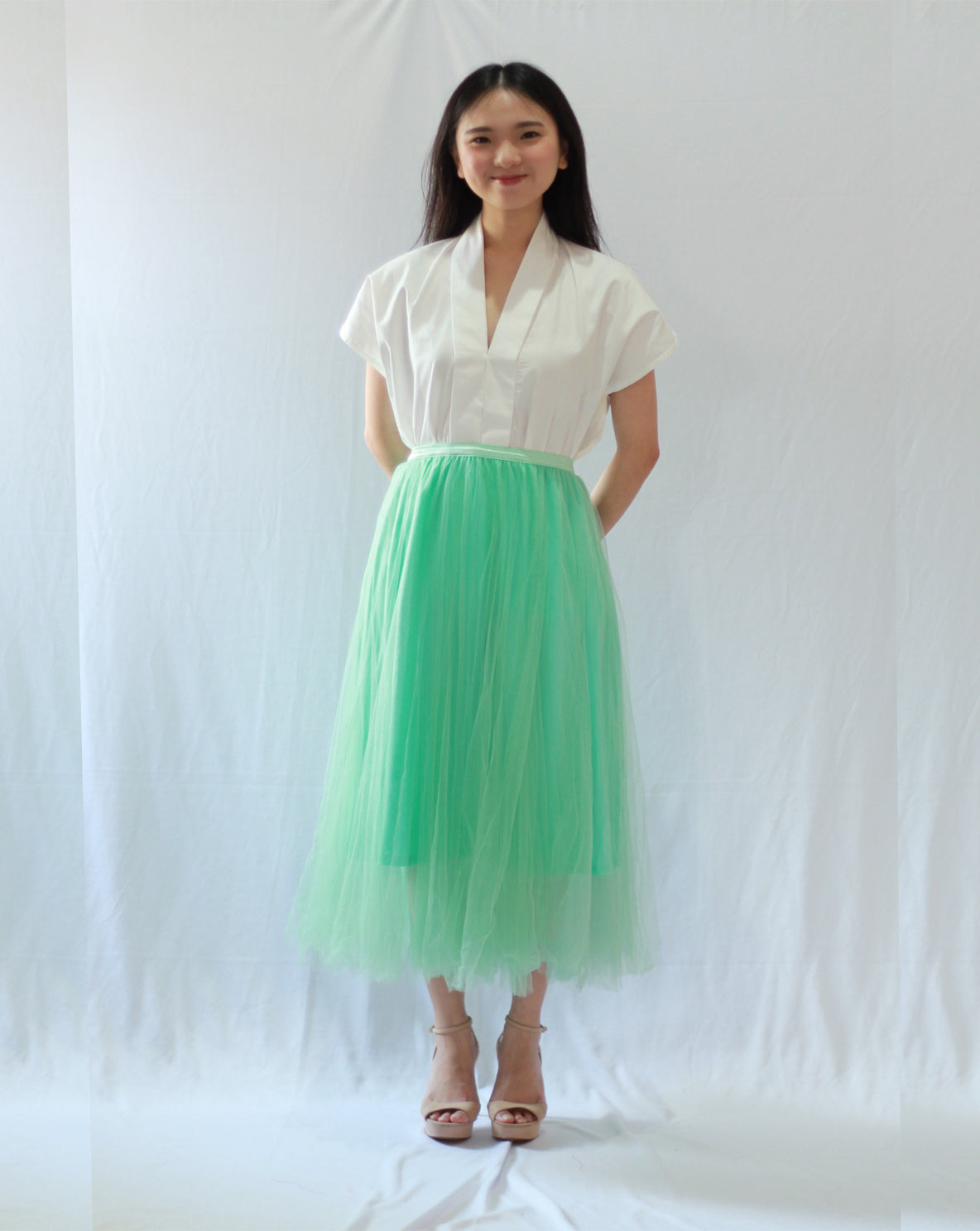 Basic Tulle Skirt - Mint #sl