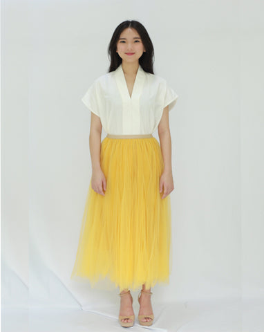 Basic Tulle Skirt - Mustard