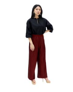 Basic Double Pleated Culottes Maxi