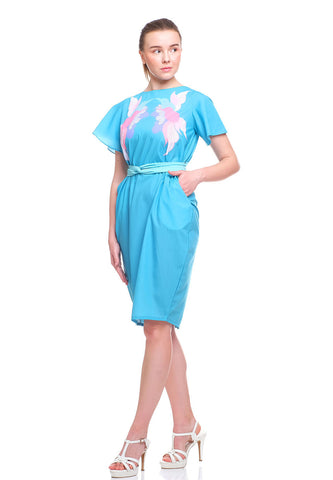 SONGBIRDS Sleeve Tulip Dress Mint