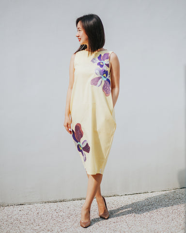 VANDA Yellow Tulip Dress