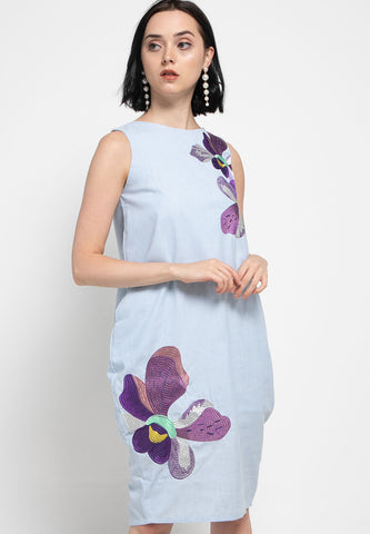 VANDA Blue Tulip Dress