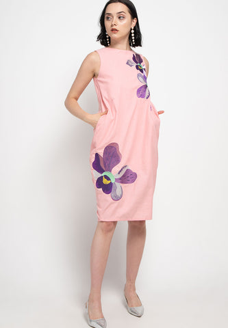 VANDA Peach Tulip Dress