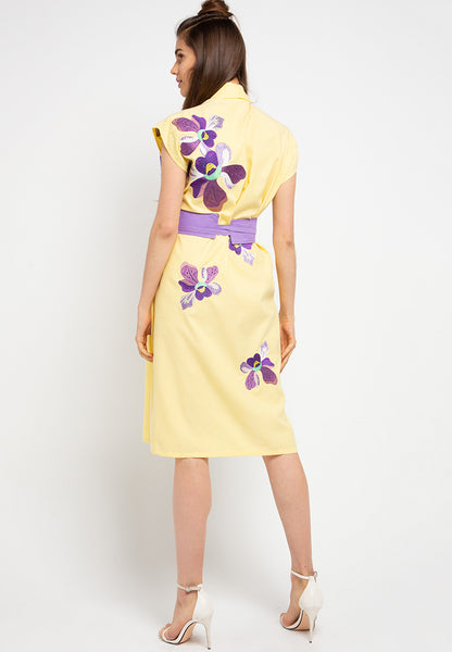 VANDA Yellow Blazer Dress