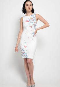 WHITE HANA Pencil Dress