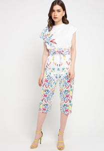 WHITE 花 HANA Slim Jumpsuit