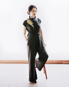 GOLDEN WINGS Black Jumpsuit